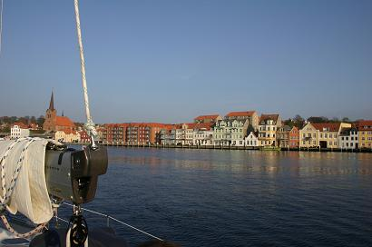 Sonderborg - view from middle of harbour to the east
